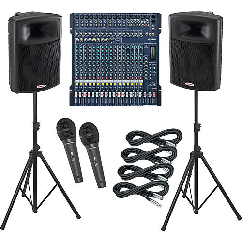 Yamaha MG206C-USB / Harbinger APS15 PA Package
