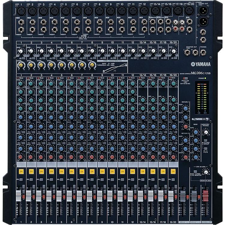 YamahaMG206C-USB Mixer