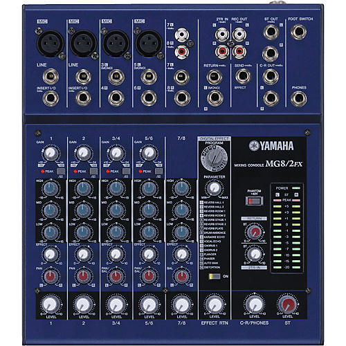 Yamaha MG8/2FX 8-Input Stereo Mixer with DSP Effects-thumbnail