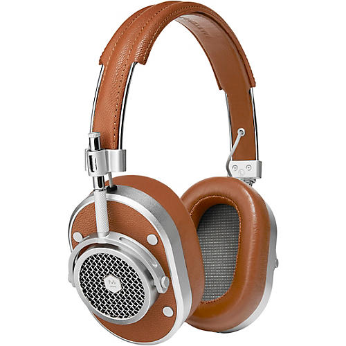 Master & Dynamic MH40 Over Ear Headphone, Brown/Silver Brown/Silver