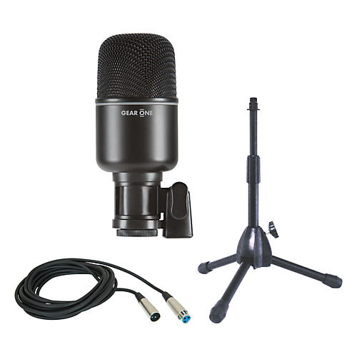 Gear One MK1000 Kick Drum Mic Package with Stand and Cable-thumbnail