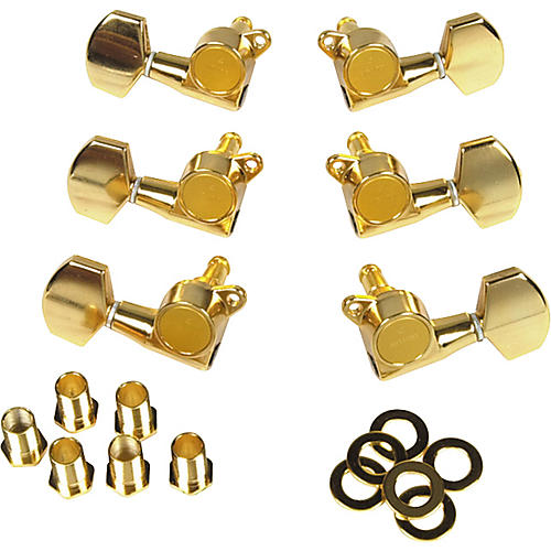 Gotoh MLB3-G 3-On-A-Side Locking Tuners 6-Pack Gold