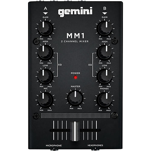 gemini mm1 2 channel audio mixer musician 39 s friend. Black Bedroom Furniture Sets. Home Design Ideas