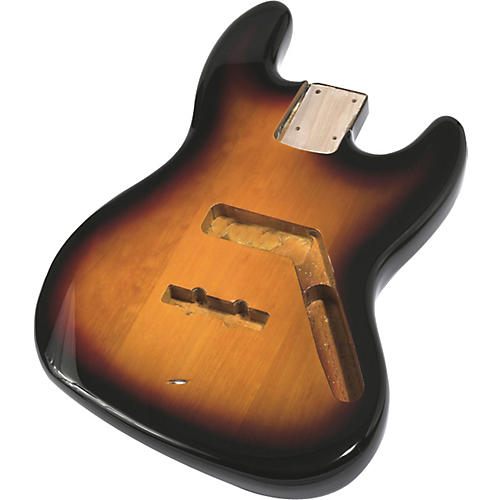 Mighty Mite MM2703 Jazz Bass Replacement Body - Burst Finish 3-Color Sunburst