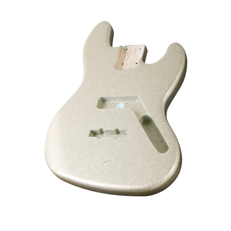 Mighty Mite MM2703SPRKL Jazz Bass Replacement Body - Sparkle Finish Silver