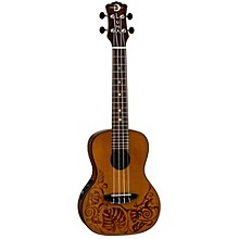 Luna Guitars MO CDR Concert Acoustic-Electric Ukulele