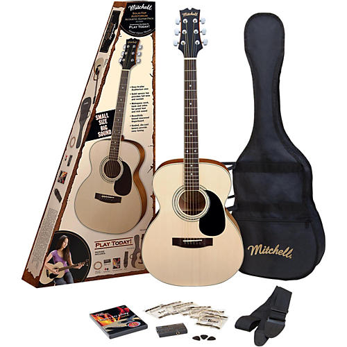 Mitchell MO100SPK Folk Acoustic Guitar Pack-thumbnail