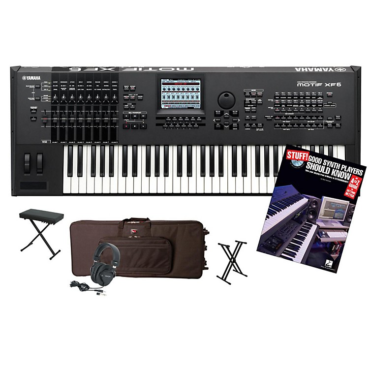 Yamaha MOTIF XF6 61-Key Workstation Package 1
