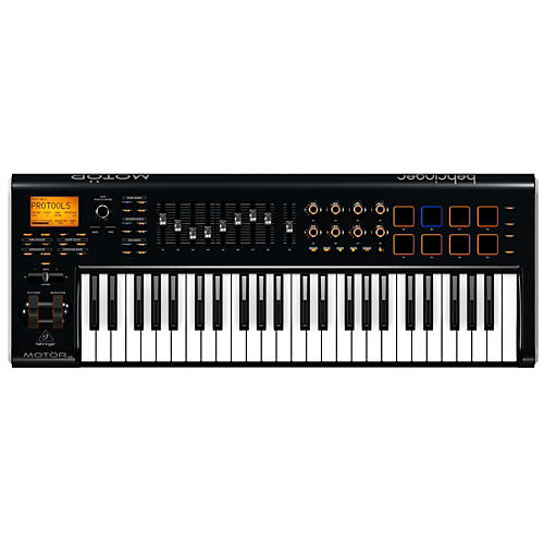 Behringer MOTÖR 49 49-Key USB/MIDI Master Controller Keyboard with Motorized Faders and Touch-Sensitive Pads-thumbnail