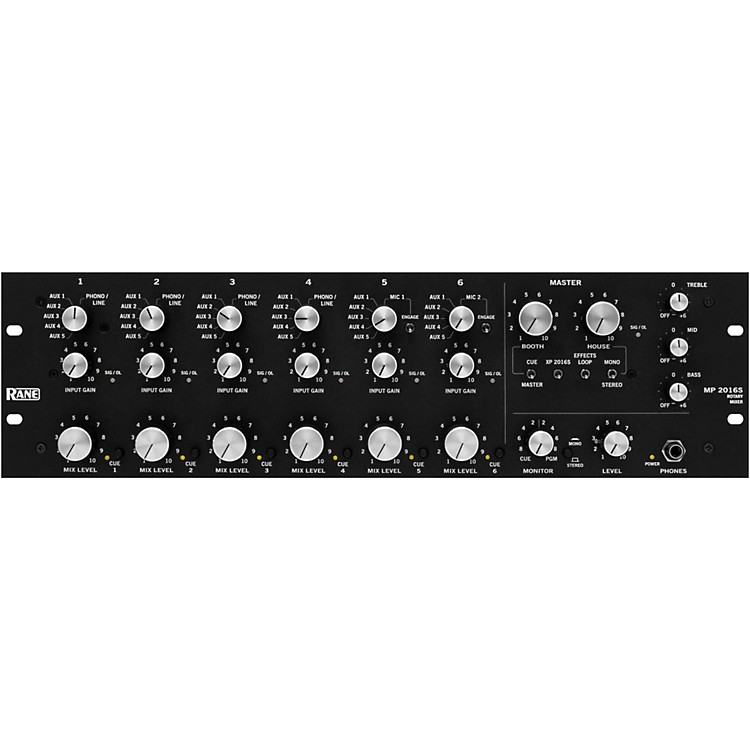 RaneMP 2016S 6-Channel Rotary Mixer
