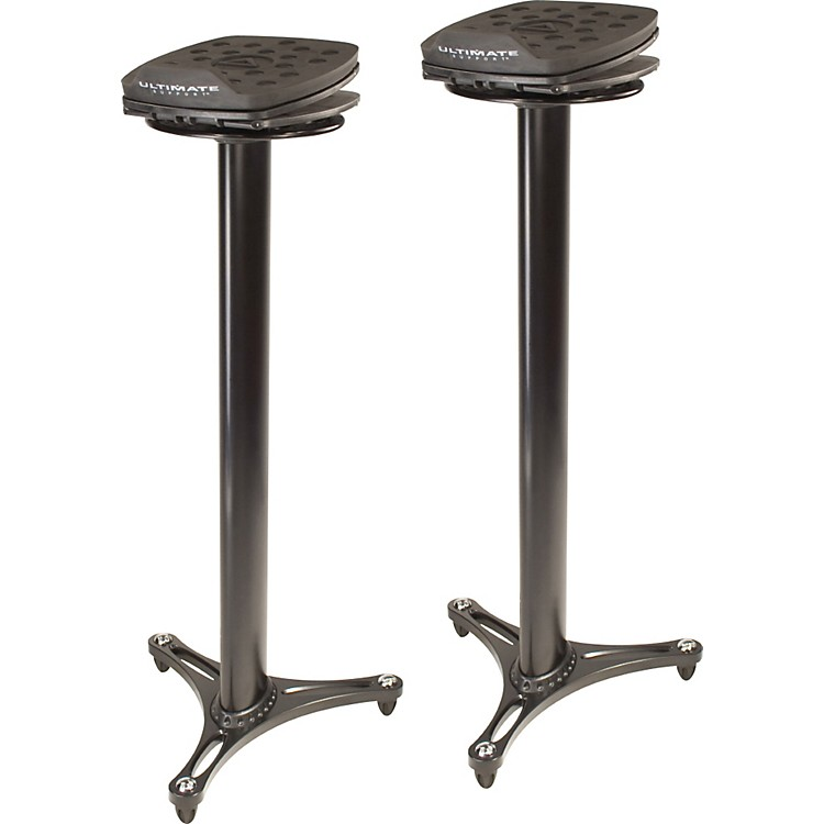 Ultimate Support MS-100 Studio Monitor Stand Pair Black