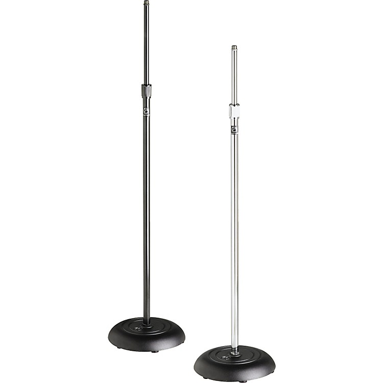Atlas Sound MS-10C Round Base All-Purpose Mic Stand Ebony