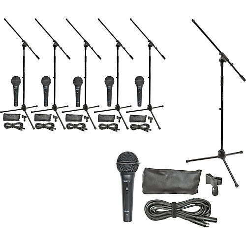 On-Stage Stands MS7510 Mic Pro & Stand Six Pack