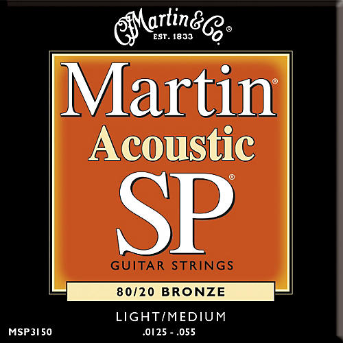 Martin MSP3150 SP Bronze Light/Medium Acoustic Guitar Strings
