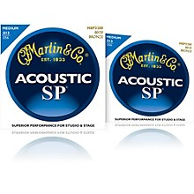 Martin MSP3200 SP 80/20 Bronze Medium 2-Pack Acoustic Guitar Strings