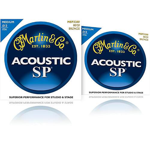 Martin MSP3200 SP 80/20 Bronze Medium Acoustic Guitar Strings (2 Pack)