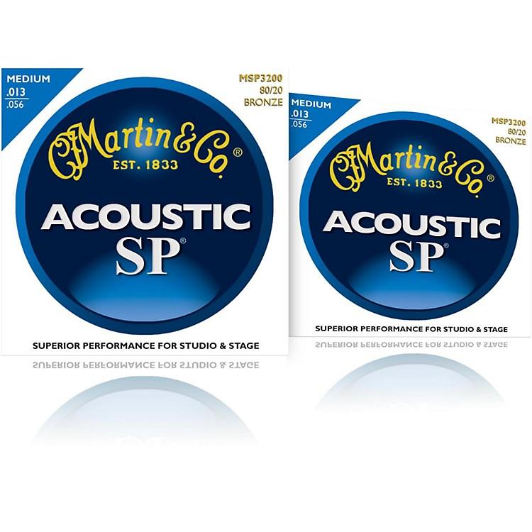 MartinMSP3200 SP 80/20 Bronze Medium Acoustic Guitar Strings (2 Pack)