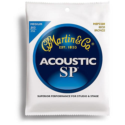 Martin MSP3200 SP 80/20 Bronze Medium Acoustic Guitar Strings-thumbnail