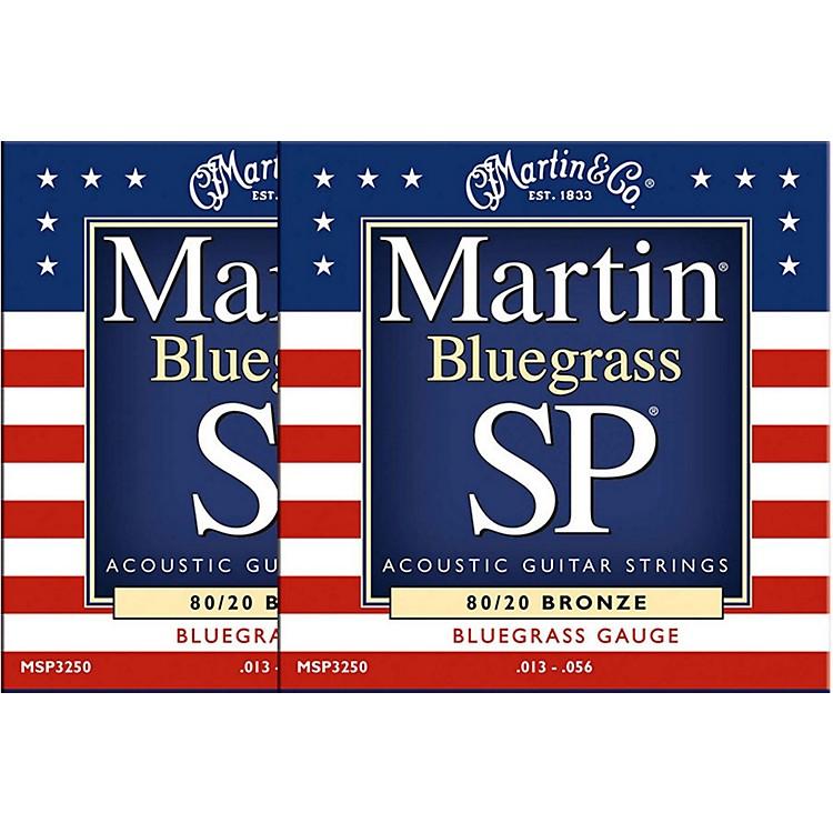 MartinMSP3250 SP Bronze Bluegrass Medium Acoustic Guitar Strings (2 Pack)