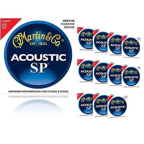 Martin MSP4100 Phosphor Bronze Light Acoustic Strings (12-Pack)