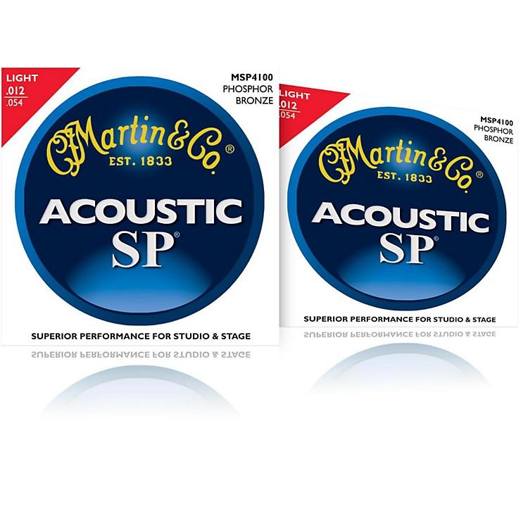 MartinMSP4100 Phosphor Bronze Light Acoustic Strings (2 Pack)