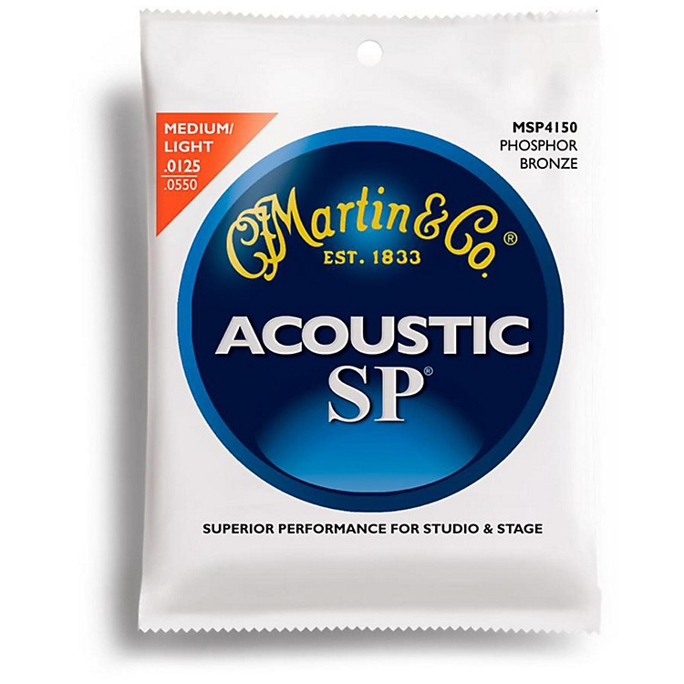 Martin MSP4150 SP Phosphor Light/Medium Acoustic Guitar Strings