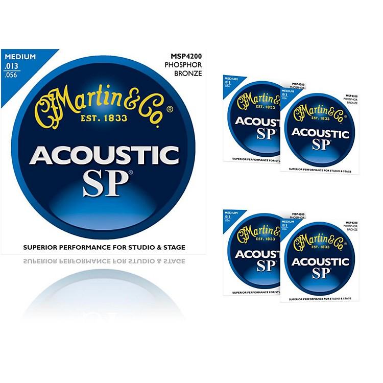 MartinMSP4200 Phosphor Bronze Medium Acoustic Guitar Strings (5 Pack)