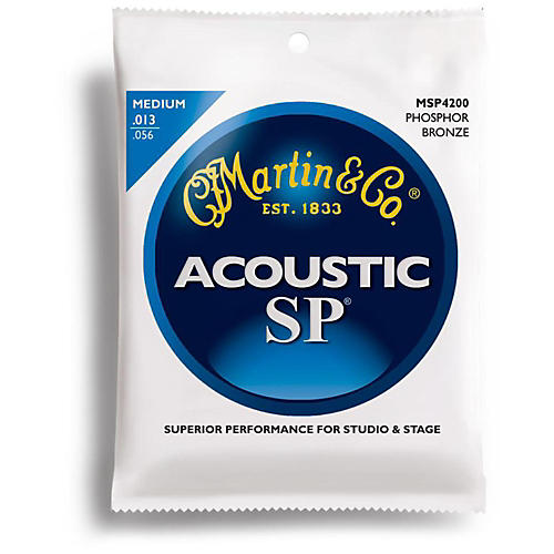 Martin MSP4200 Phosphor Bronze Medium Acoustic Guitar Strings