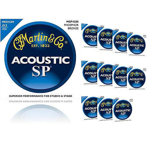 Martin MSP4200 Phosphor Bronze Medium Acoustic Strings (12 Pack)