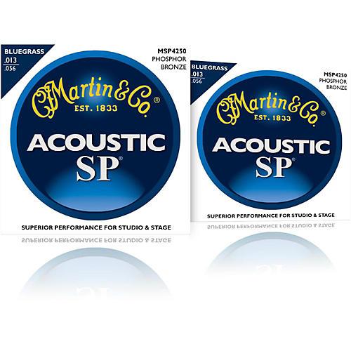 Martin MSP4250 SP Phosphor Bluegrass Medium Acoustic Guitar Strings (2 Pack)