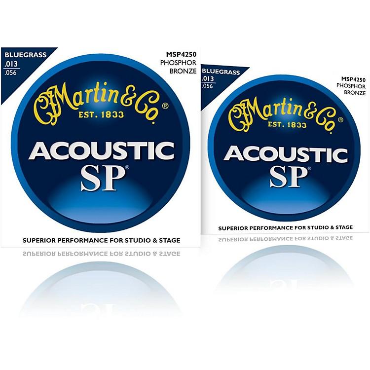 MartinMSP4250 SP Phosphor Bluegrass Medium Acoustic Guitar Strings (2 Pack)