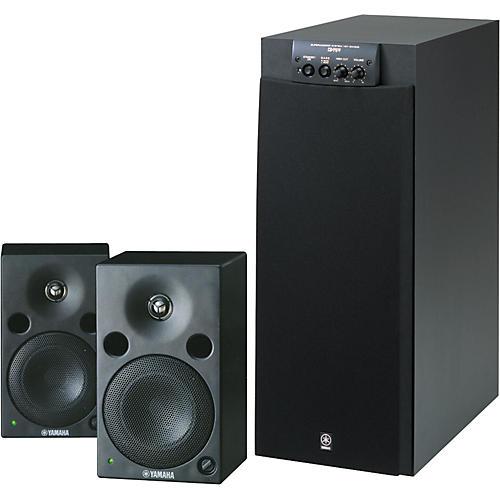 Yamaha MSP5/SW305 Powered Studio Monitors Package-thumbnail