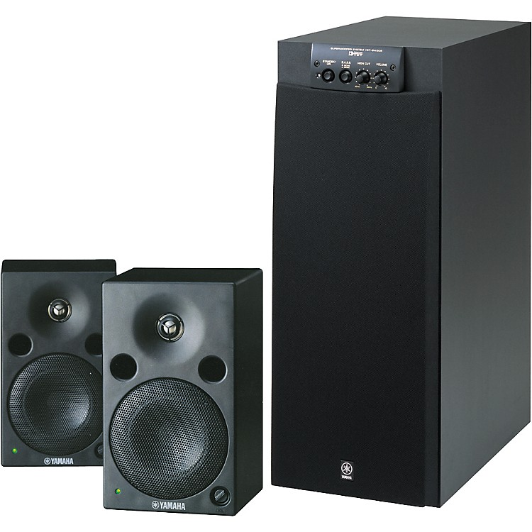Yamaha msp5 sw305 powered studio monitors package for Studio monitors yamaha