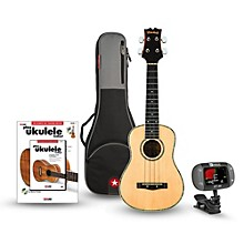 Mitchell MU70 12-Fret Concert Ukulele Bundle Natural