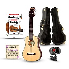 Mitchell MU70 12-Fret Concert Ukulele Deluxe Bundle Natural