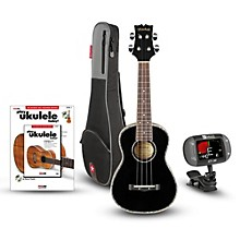 Mitchell MU75BK Concert Ukulele Bundle Black