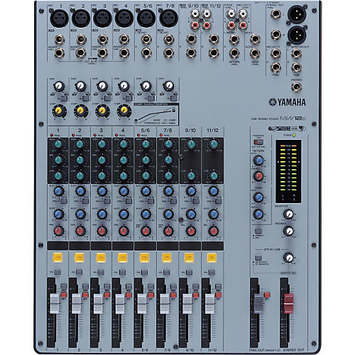 yamaha mw12c 12 channel usb mixer with compression