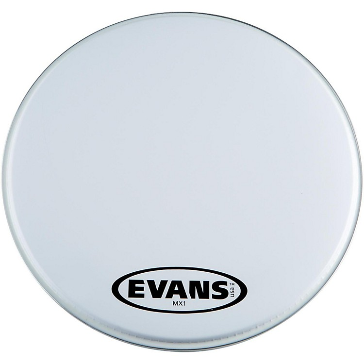 Evans MX1 White Marching Bass Drum Head  16 Inch