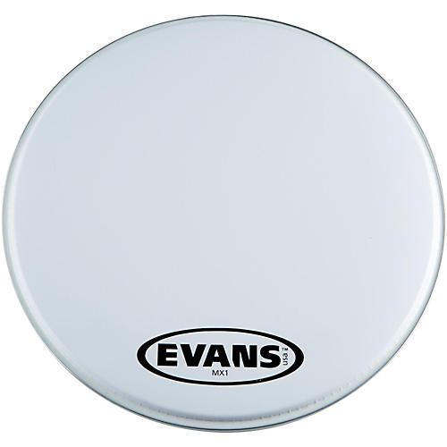 Evans MX1 White Marching Bass Drum Head  16 in.