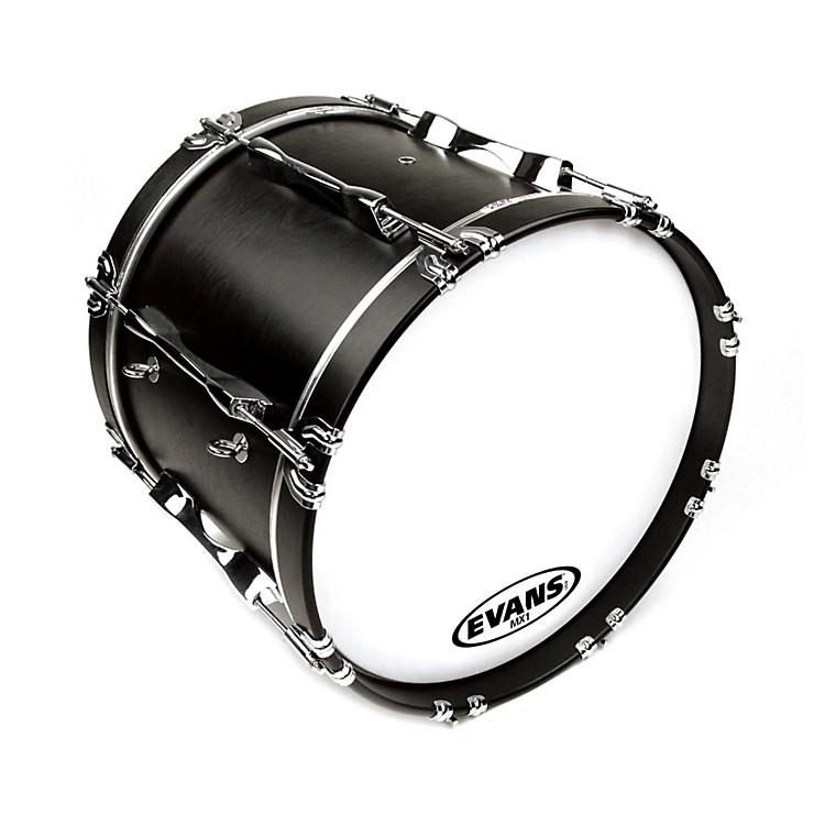 EvansMX1 White Marching Bass Drum Head20 Inch