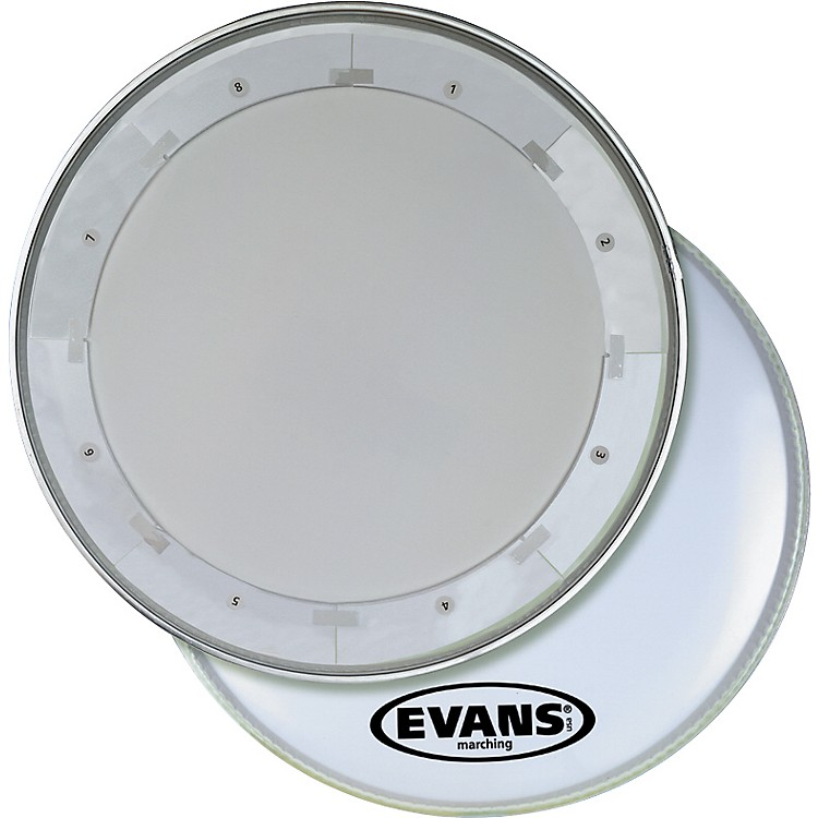 Evans MX1 White Marching Bass Drum Head  24 Inch
