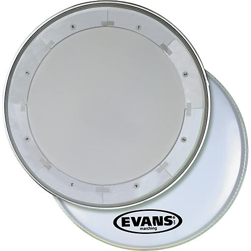 Evans MX1 White Marching Bass Drum Head  24 in.