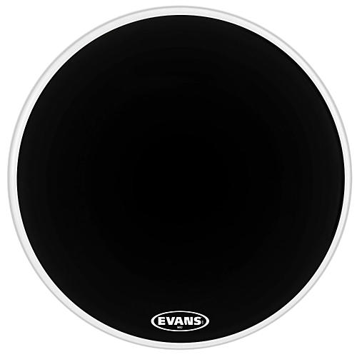 Evans MX2 Black Marching Bass Drum Head Black 24 in.