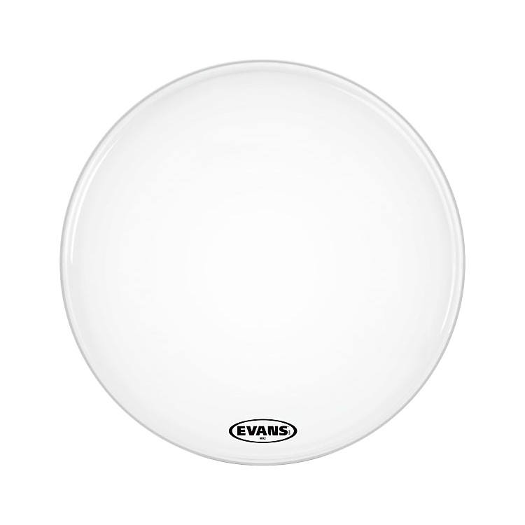 Evans MX2 White Marching Bass Head  28 Inch