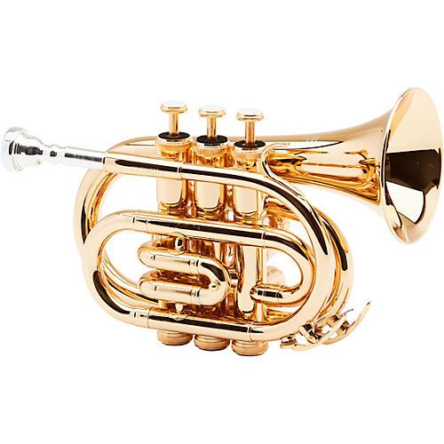 Allora MXPT-5801 Series Pocket Trumpet Gold Plated-thumbnail