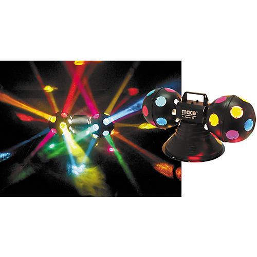 American DJ Mace II Multi-Colored Dual Rotating Balls