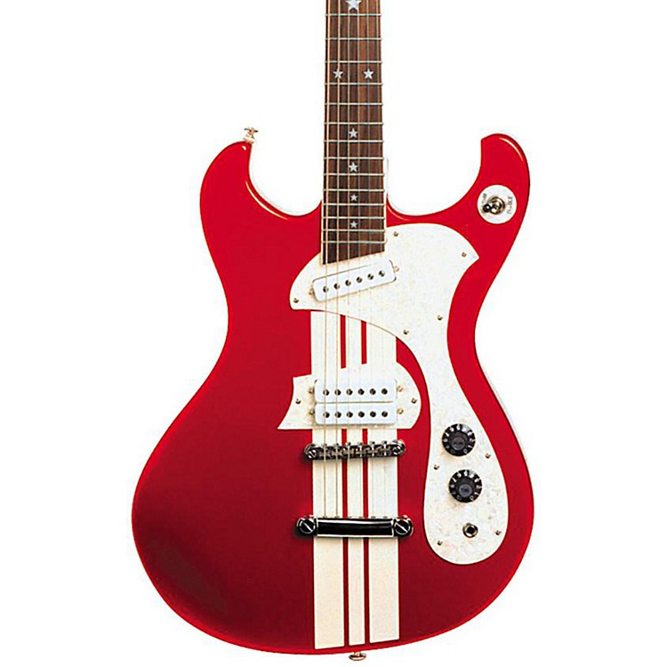 DiPinto Mach IV Electric Guitar Red With White Racing Stripes