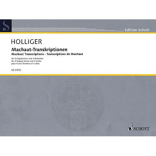Schott Machaut Transcriptions Schott Series Softcover  by Heinz Holliger-thumbnail
