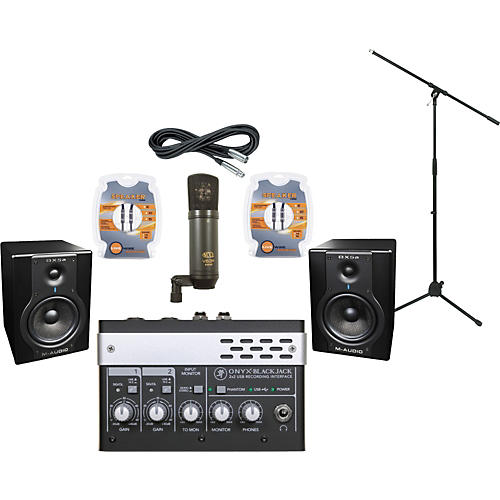 M-Audio Mackie Onyx Blackjack and M-Audio BX5a Recording Package-thumbnail