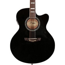 D'Angelico Madison Jumbo Cutaway Acoustic-Electric Guitar Level 1 Black